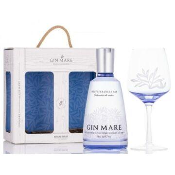 Gin Mare Mediterranean Gin 0,7L 42,7% ajándékcsomag G&T pohárral