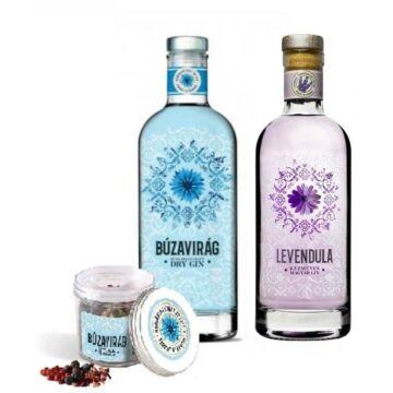 Búzavirág Gin 40% 1db és Levendula Gin 40% 1db + 1 db ajándék fűszermix