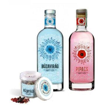 Búzavirág Gin 40% 1db és Pipacs Gin 40% 1db + 1 db ajándék fűszermix