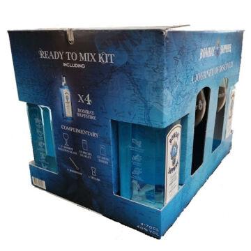 Bombay Sapphire PACK (4*0,7 40%) pdd. + ajándék