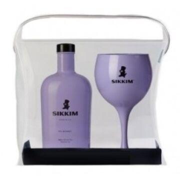 Sikkim Bilberry Gin, lila - 0,7L (40%) dd. + pohár