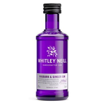 Whitley N. MINI Rhubarb Ginger (Rebarbara és gyömbér) Gin 0,05 43%
