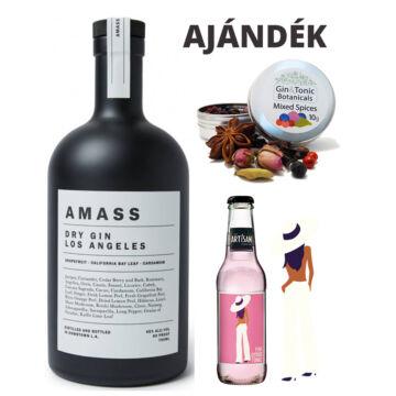 Amass Los Angeles Gin 45% 0,7L ajándék fűszerrel és tonikkal