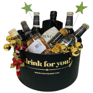 Hendricks Gin&Tonik Ajándék szett Fekete díszdobozban