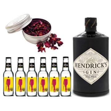 Hendricks Gin Tonik szett ajándék Rózsaszirommal