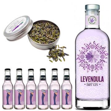 Levendula Gin Tonik szett Ajándék levendula ginfűszerrel