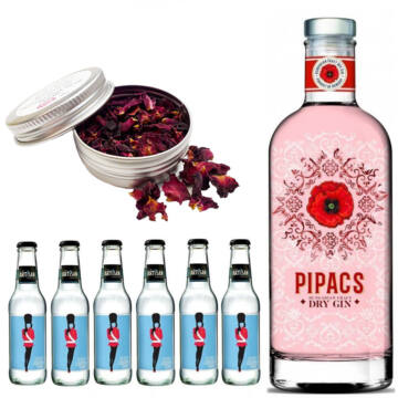 Pipacs Gin Tonik szett Ajándék rózsa szirommal