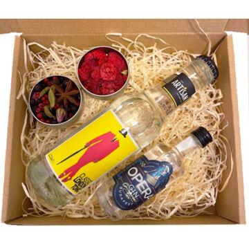 Mini Opera Gin Tonik szett  tonikkal és ginfűszerekkel