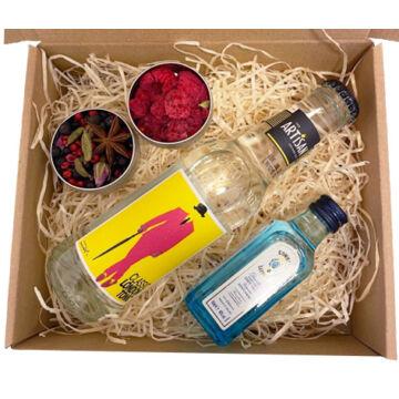 Mini Bombay Gin Tonik szett  tonikkal és ginfűszerekkel
