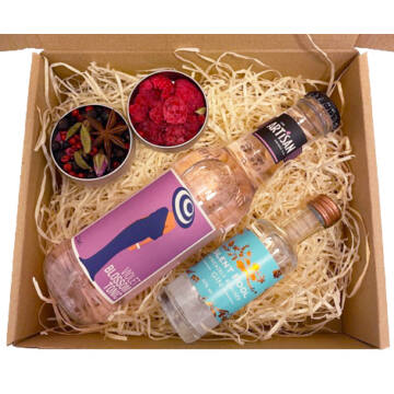 Mini Silent Pool Gin Tonik szett Violet  tonikkal és ginfűszerekkel