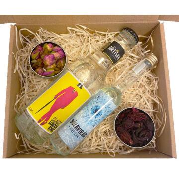 Mini Búzavirág Gin Tonik szett Classic tonikkal és ginfűszerekkel