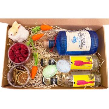 Húsvéti Ginpowder Gin Tonik csomag papír díszdobozban