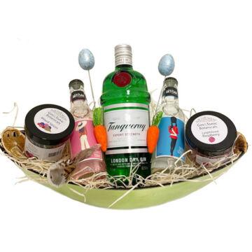 Húsvéti Tanqueray Gin Tonik Szett dísztálban