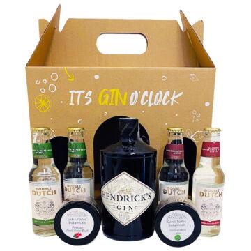 Hendricks Gin Tonik szett díszdobozban, ginfűszerekkel