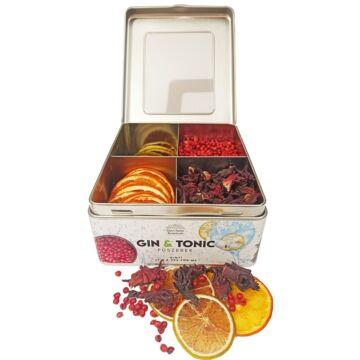 Gin Tonic Botanicals fém dobozban, osztott (lime-narancs-hibiszkusz-rózsabors) - 139 gr