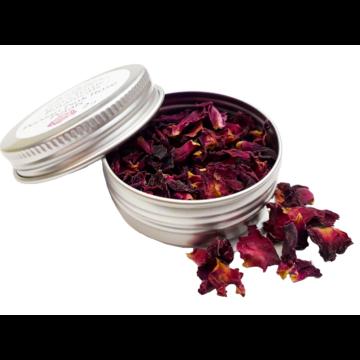 Gin Tonic botanicals mini fém tégelyben, perzsa rózsa szirom 2gr