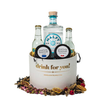 Drink For You feliratos Malfy Gin Tonik Ajándék csomag fehér díszdobozban