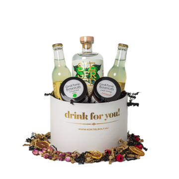 Drink For You feliratos Wonderleaf Gin Tonik Ajándék csomag fehér díszdobozban