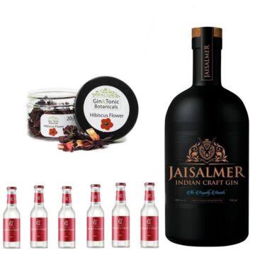 Jaisalmer Indian Crafted Gin Tonik Home Kit ajándék hibiszkusz ginfűszerrel