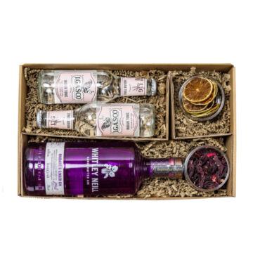 Whitley Neill Rhubarb&Ginger Gin Tonik szett Díszdobozban Ginfűszerrel