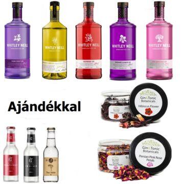 Ízesített Gin Válogatás 3 db Ajándék tonikkal + 2 Ajándék ginfűszerrel