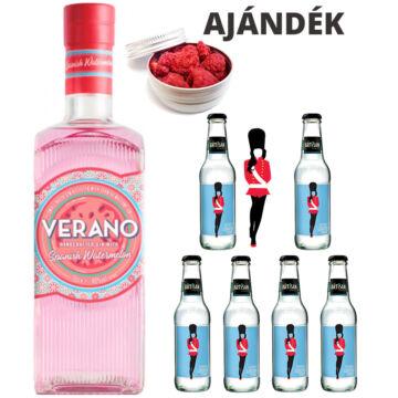 Verano Görögdinnyés Gin Tonik szett ajándék Málna ginfűszerrel