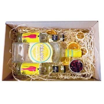 Verano Citromos Gin Tonik Szett díszdobozban ginfűszerrel