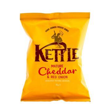 Kettle cheddar sajtos vöröshagymás chips 40g