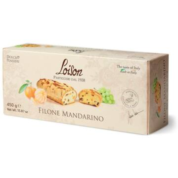 Loison kenyér formájú sütemény szultána mazsolával és kandírozott mandarinnal 450g