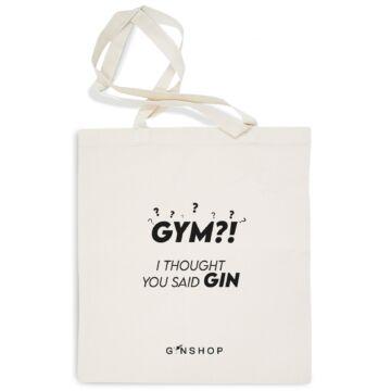 Feliratos Gin Tonik Vászontáska Gym