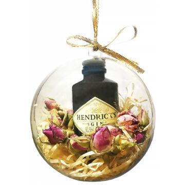 Hendricks karácsonyfadísz - gömb dekoráció (mini Hendricks 0,05L)