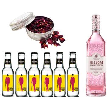 Bloom Jasmine Gin Tonik Szett Ajándék Rózsaszirommal