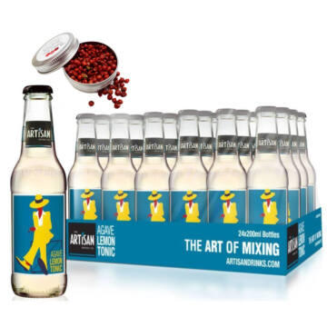 24 db Artisan Agave Lemon Tonic 200ml Ajándék rózsaborssal