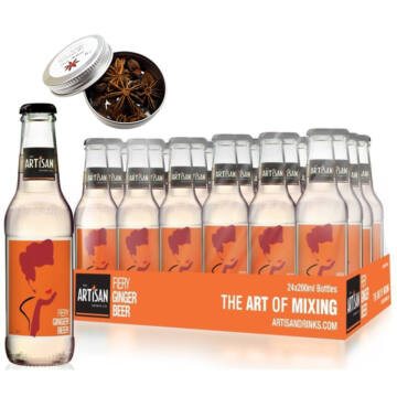 24 db Artisan Fiery Ginger Beer 200ml Ajándék ginfűszerrel