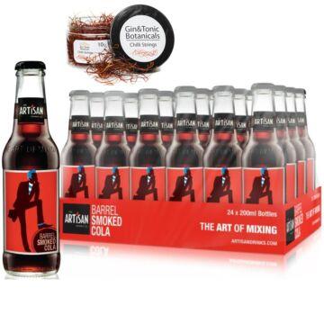 24 db Artisan Barrel Smoke Cola 200ml Ajándék csiliszállal