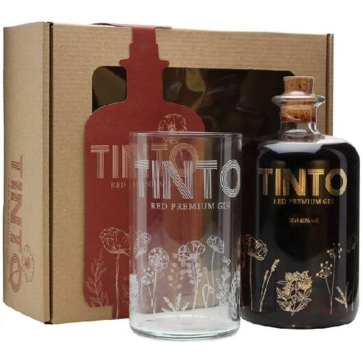 Tinto Red Premium Gin 40% pdd.+ pohár 0,7