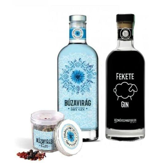 Búzavirág Gin 40% 1db és Fekete Bárány Gin 40% 1db + 1 db ajándék fűszermix