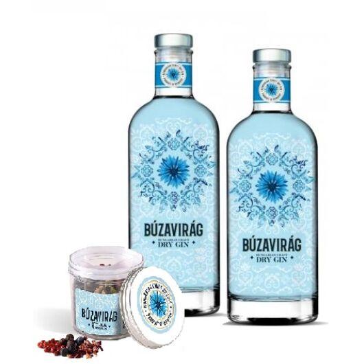 Búzavirág Gin 40% 2 db + 1 db ajándék fűszermix