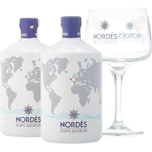 Nordes Gin Pack (2x0,7L + 6 db pohár)