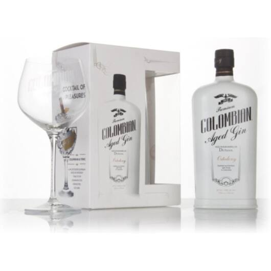 Dictador Columbian Aged Gin WHITE Ortodoxy - 0.7L (43%) pdd. + pohár