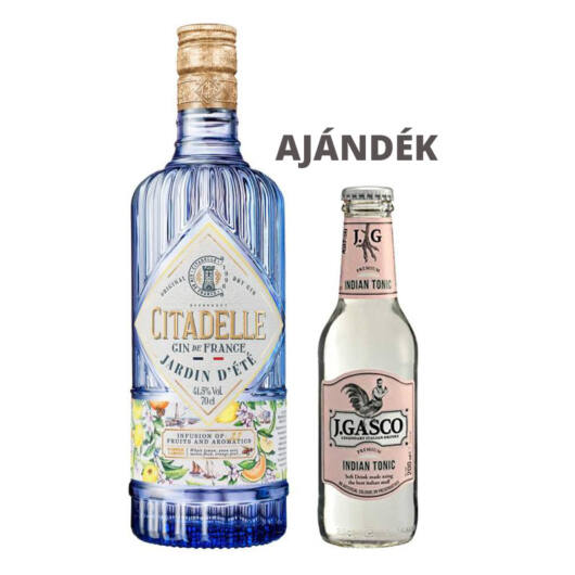 Gin Citadelle Jardin d'Été (0,7 l, 41,5%) + ajándék J.Gasco Indian Tonic