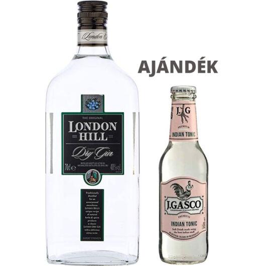 London Hill Gin (0,7 l, 40%) + ajándék J.Gasco Indian Tonic