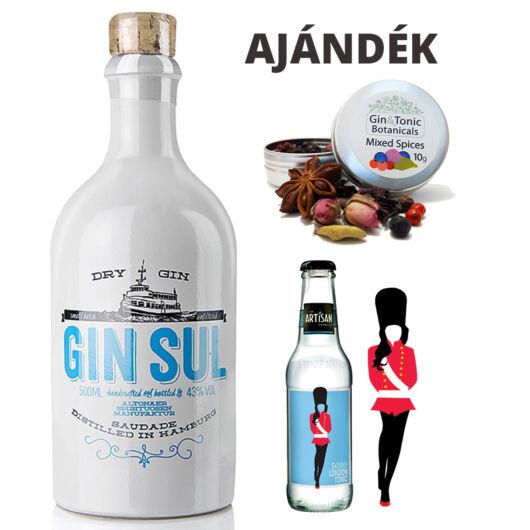 Gin Sul 43% 0,5L ajándék fűszerrel és tonikkal
