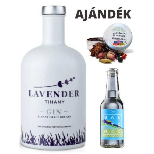 Lavender Tihany gin - 0,7L (40%) ajándék fűszerrel és tonikkal