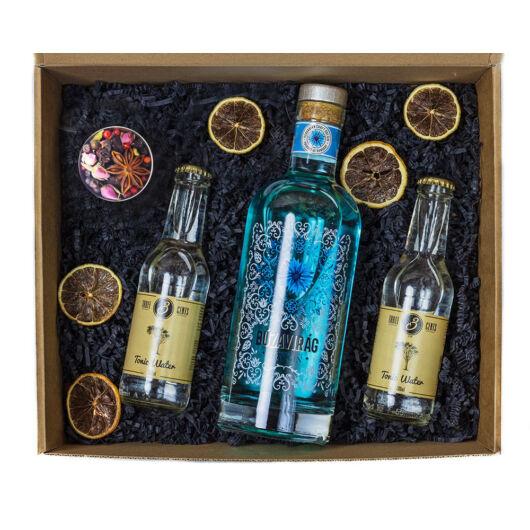 Búzavirág Gin Ajándék Szett Díszdobozban