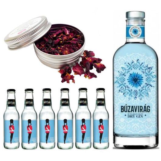 Búzavirág Gin Tonik szett ajándék ginfűszerrel