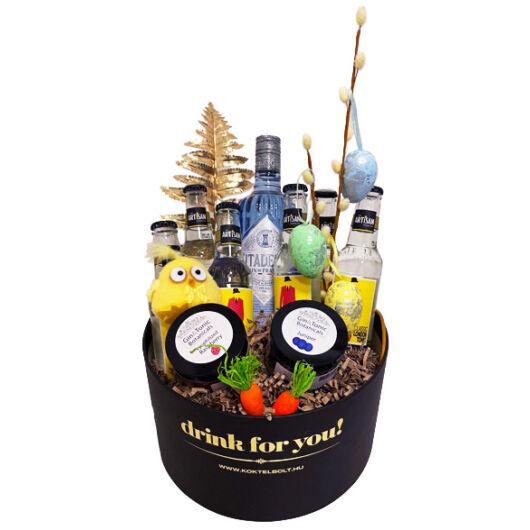 Húsvéti Citadell Gin Tonik szett Drink For You fekete díszdobozban