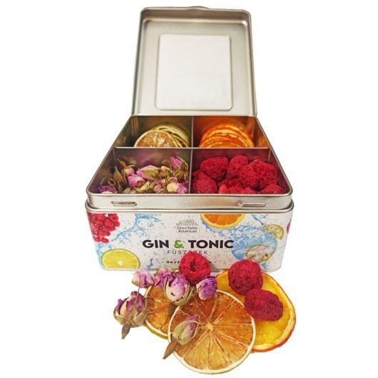 Gin Tonic Botanicals fém dobozban, osztott (lime-narancs-bimbó-málna) - 91 gr