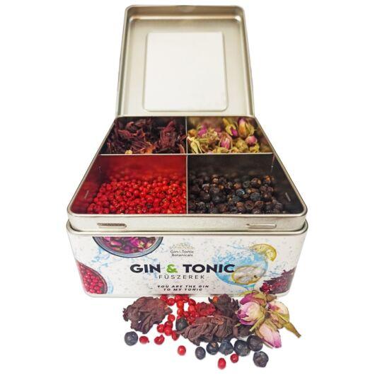 Gin Tonic Botanicals fém dobozban, osztott (hibiszkusz-rózsabors-boróka-bimbó) - 207 gr