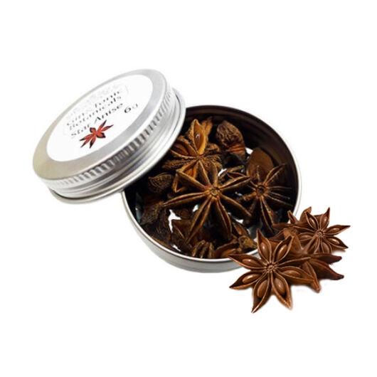 Gin Tonic botanicals mini fém tégelyben, csillagánizs egész 6gr